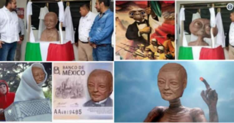 """Busto de Expresidente Benito Juárez Causa """"Lluvia"""" de Memes en Redes sociales"""