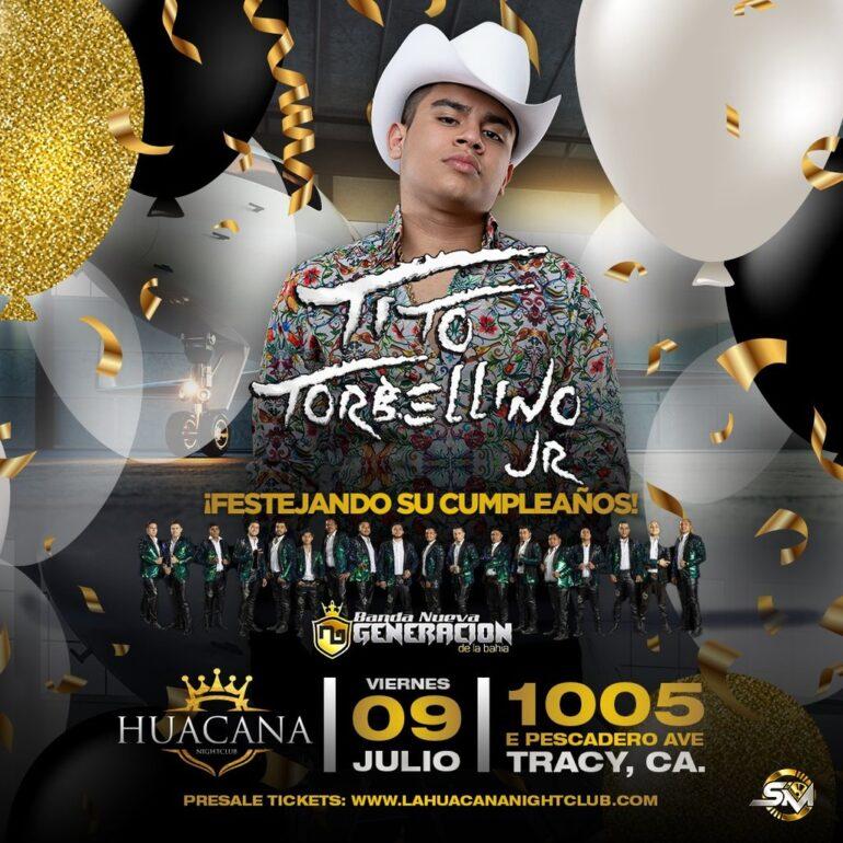 Tito torbellino jr se presenta en la hucana de tracy 09 de julio