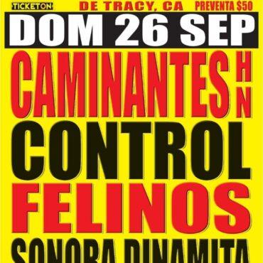 Los Caminantes HN, Control, Felinos y SONORA DINAMITA